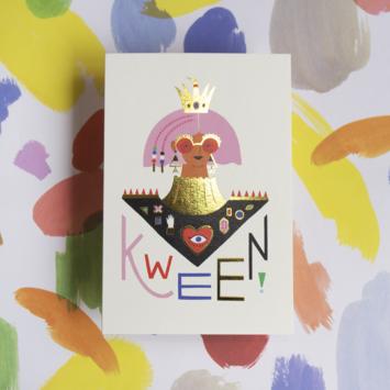 Angelope Design Kween Gold Foiled Card