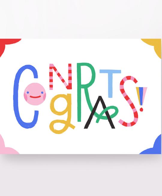 Angelope Design Rainbow Congrats Card