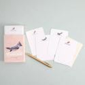One Canoe Two Letterpress - OC Thank You Flat Note Set, Birds, Set of 20