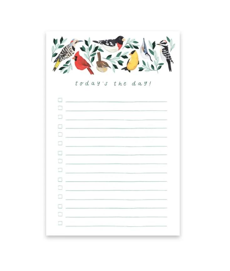 One Canoe Two Letterpress - OC Birds Today Notepad
