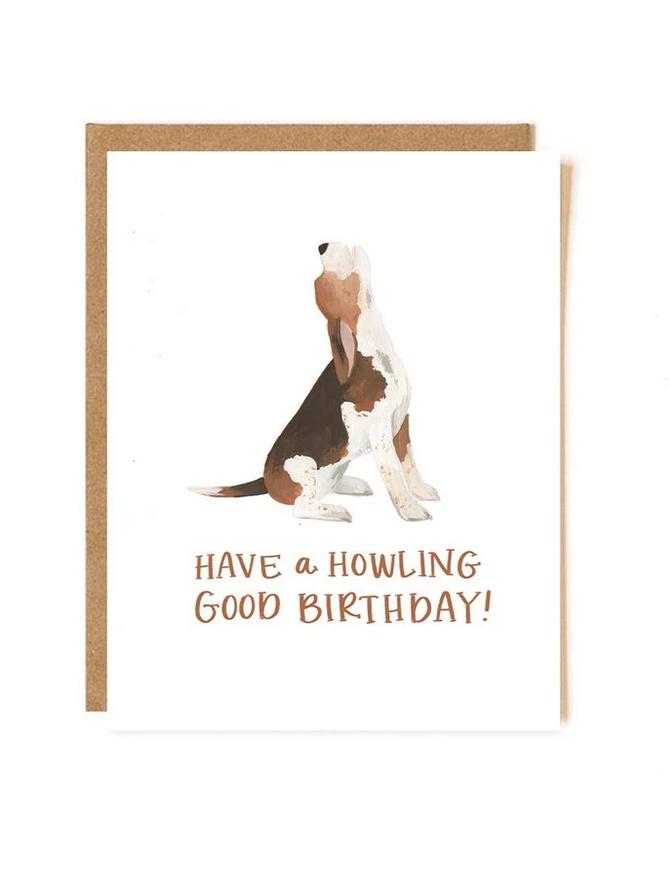 One Canoe Two Letterpress - OC Howling Good Birthday