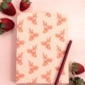 One Canoe Two Letterpress - OC Strawberry Clothbound Notebook