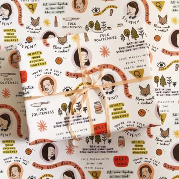 Abbie Ren Illustration - ARI My Favorite Murder Wrap Sheets, Set of 3