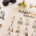 "Abbie Ren Illustration - ARI Schitt's Creek Alphabet Print, 16"" x 20"""