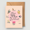 Abbie Ren Illustration - ARI You Deserve Every Good Thing Birthday Card