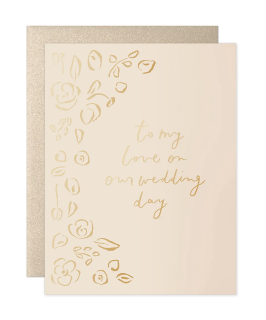 Our Heiday - OH To My Love Florals Wedding Day Card