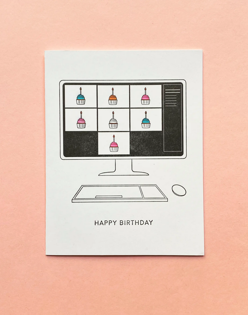 Quick Brown Fox Letterpress - QBF Zoom Birthday Card