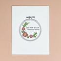 Quick Brown Fox Letterpress - QBF Sew Sorry Birthday Card