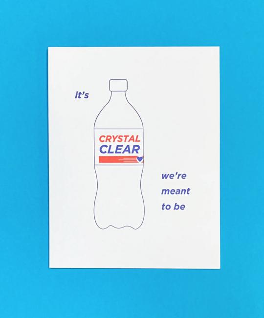 Quick Brown Fox Letterpress - QBF Crystal Clear Card