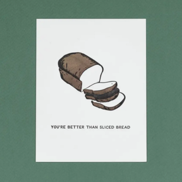 Quick Brown Fox Letterpress - QBF Sliced Bread Card