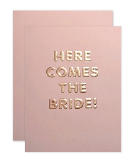 The Social Type - TST Here Comes the Bride Card
