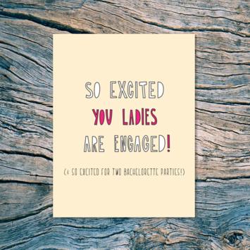 Near Modern Disaster - NMD Engaged Ladies Card