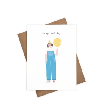 iejvxr - IE Happy Birthday Overalls Card