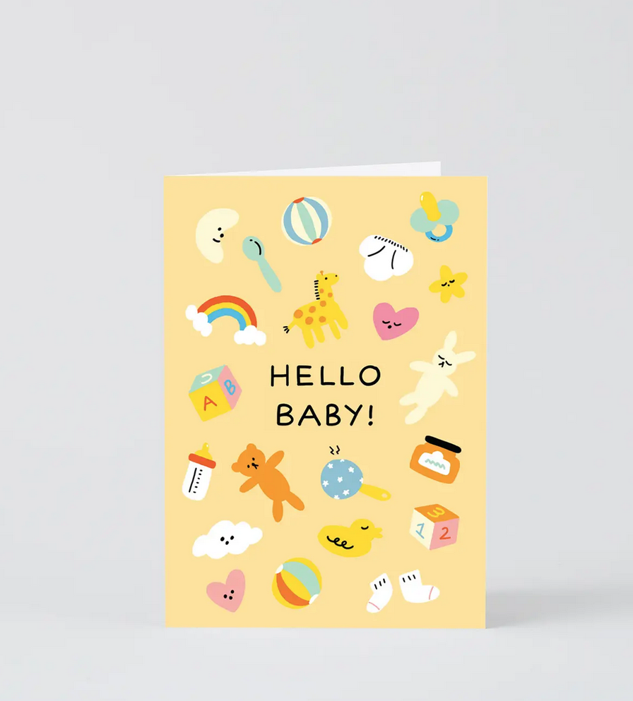 Wrap - WRP Hello Baby Card