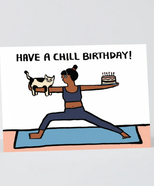 Wrap - WRP Have a Chill Birthday Cat Card