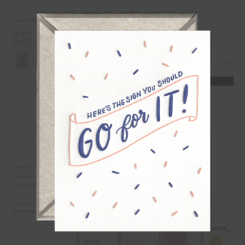 Ink Meets Paper - IMP Go For It! Card