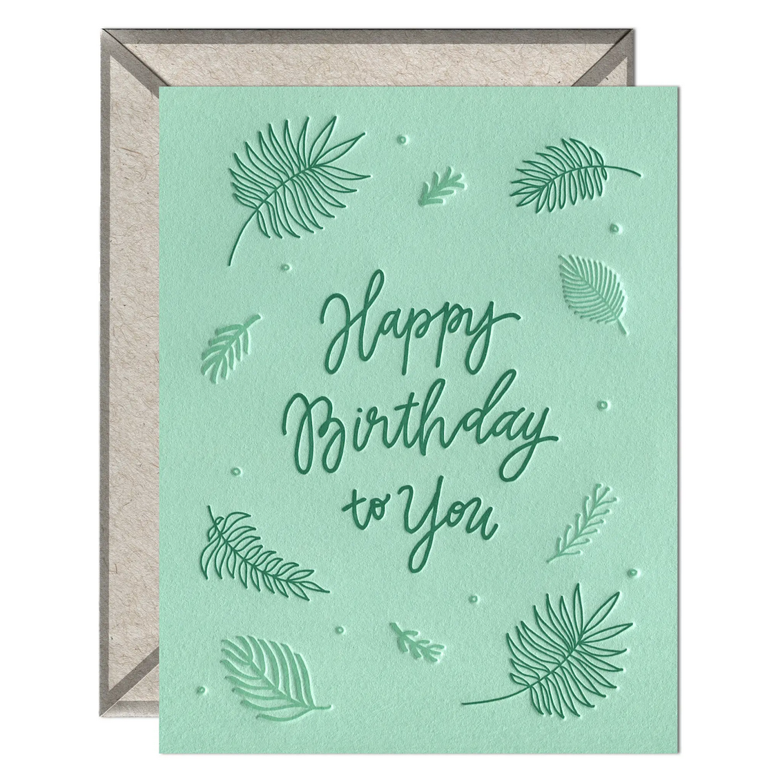 Ink Meets Paper - IMP Happy Birthday Ferns Card