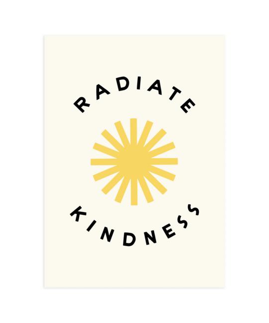 "Worthwhile Paper - WOP Radiate Kindness Print, 5x7"""