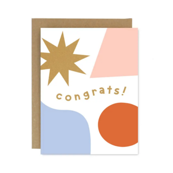Worthwhile Paper - WOP Congrats Shapes and Colors Card
