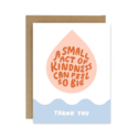 Worthwhile Paper - WOP Small Act of Kindness Thank You Card