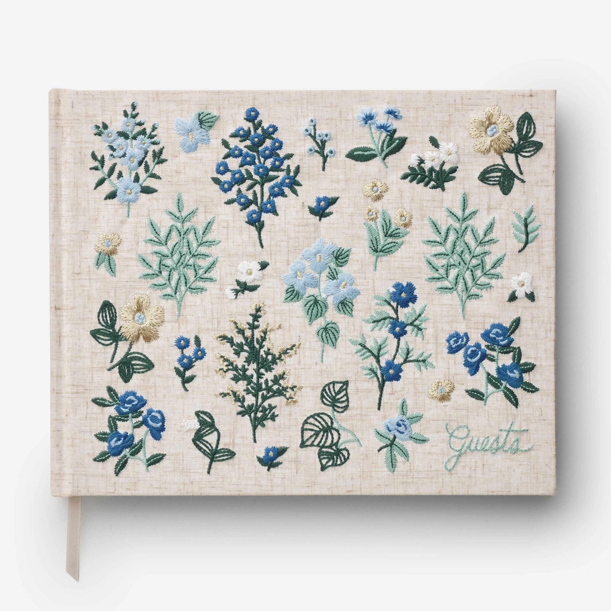 Rifle Paper Co - RP Rifle Paper Co Wildwood Embroidered Guest Book