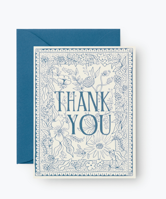 Rifle Paper Co - RP Rifle Paper Co Delft Thank You Cards, Set of 8