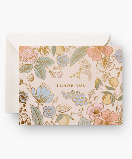 Rifle Paper Co - RP Rifle Paper Co Colette Thank You Cards, Set of 8