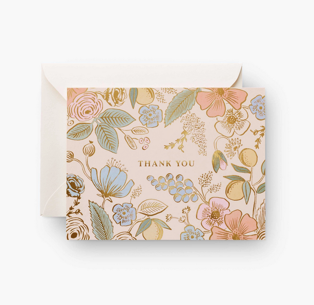Rifle Paper Co - RP Rifle Paper Co Colette Thank You Card