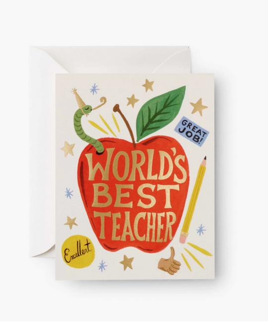Rifle Paper Co - RP Rifle Paper Co World's Best Teacher Card