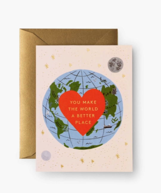 Rifle Paper Co - RP Rifle Paper Co You Make the World Better Card