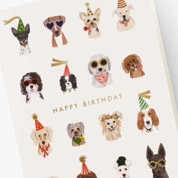 Rifle Paper Co - RP Rifle Paper Co Party Pups Birthday Card