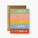 Rifle Paper Co - RP Rifle Paper Co Birthday Wishes Card
