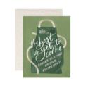 One Canoe Two Letterpress - OC Retirement Gardening Apron Card
