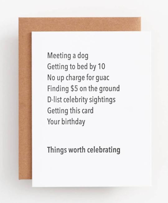 The Matt Butler - TMB Things Worth Celebrating Birthday Card