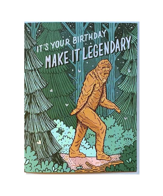 Noteworthy Paper and Press - NPP Bigfoot Birthday Card