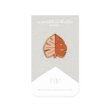 Worthwhile Paper - WOP Monstera Leaf Enamel Pin