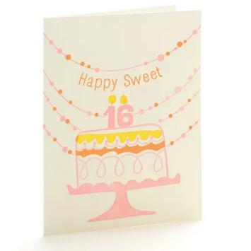 Ilee Papergoods - IP Sweet 16 Birthday Card