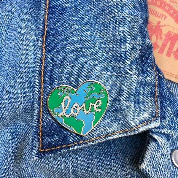 The Found - TF Love Earth Enamel Pin