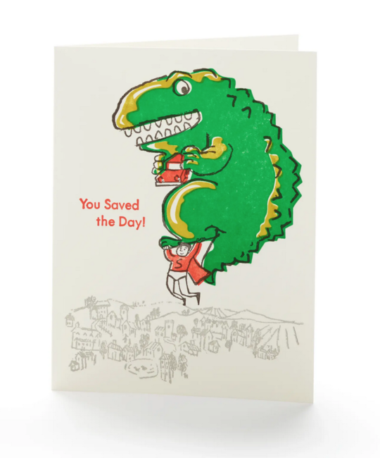 Ilee Papergoods - IP You Saved the Day Card