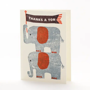 Ilee Papergoods - IP Thanks a Ton Elephant Card