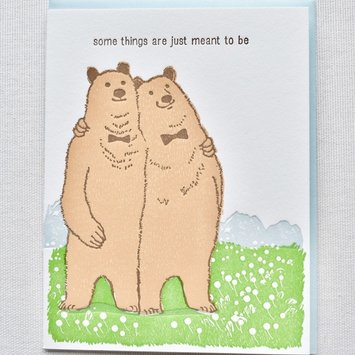 Ilee Papergoods - IP Bears Meant to Be Card