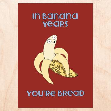 FINEASSLINES - FIN Banana Years Birthday Card