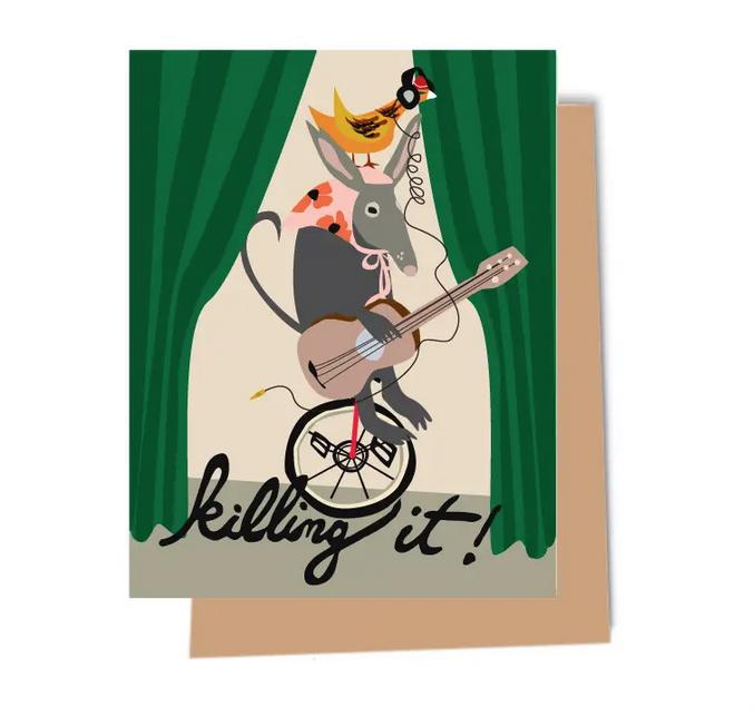 Elizabeth Grubaugh - EG Killing It Armadillo Unicycle Card