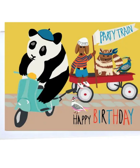Elizabeth Grubaugh - EG Happy Bday Party Train Birthday Card