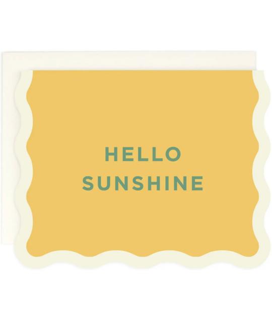Amy Heitman Illustration - AHI Hello Sunshine Card with Wave Edge