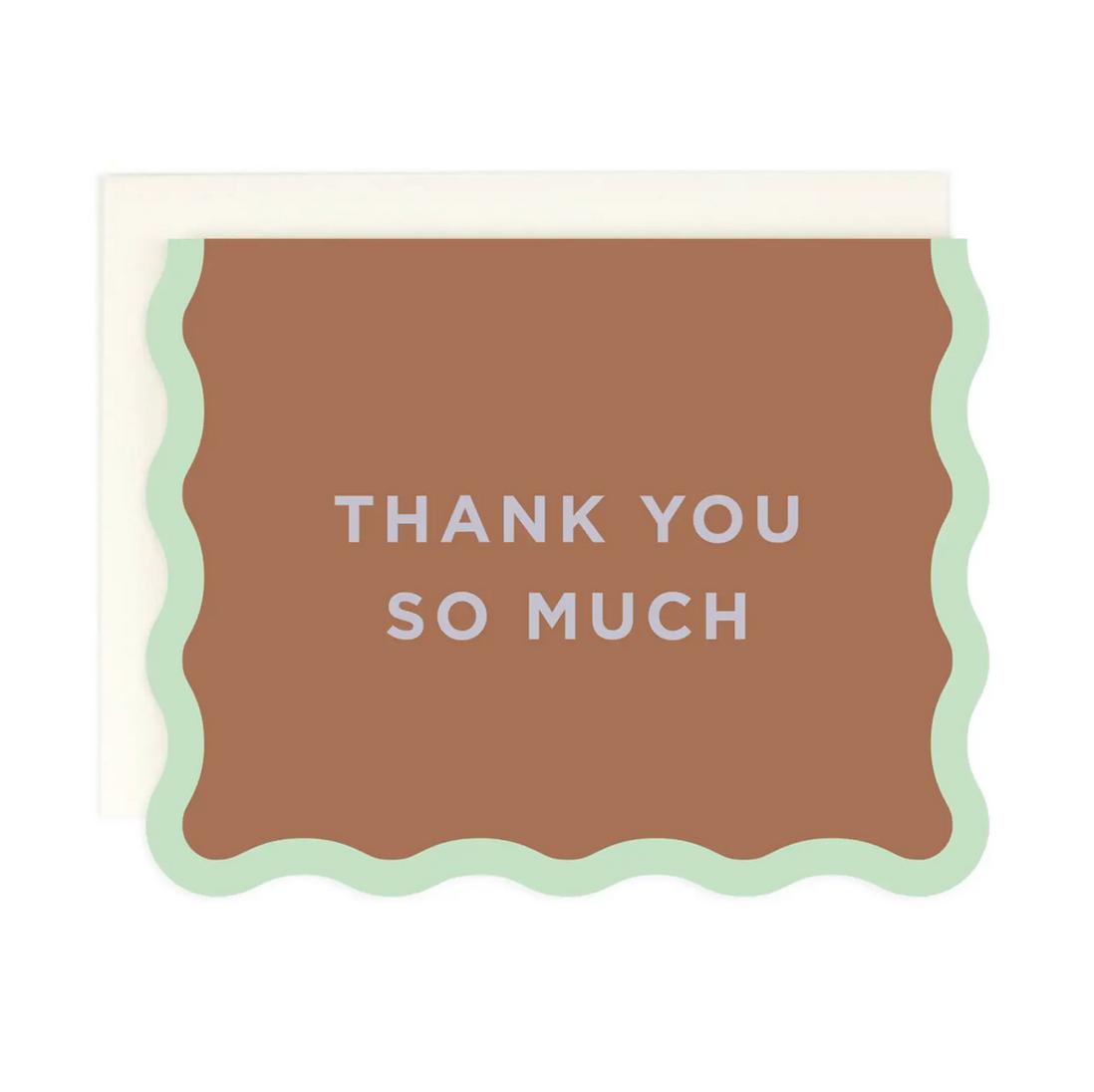 Amy Heitman Illustration - AHI Thank You Die-Cut Card with Wave Edge