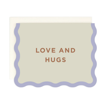 Amy Heitman Illustration - AHI Love and Hugs Card with Wave Edge