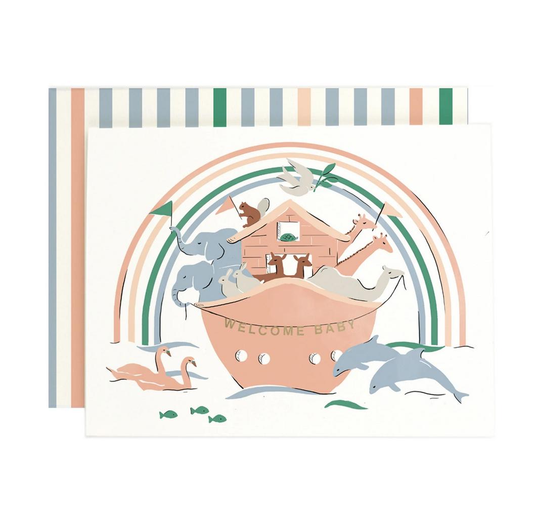 Amy Heitman Illustration - AHI Welcome Baby Ark Card