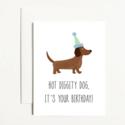 k. Patricia Designs Hot Diggity Dog Birthday Card
