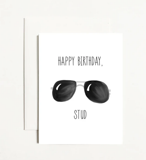 k. Patricia Designs Happy Birthday Stud Card